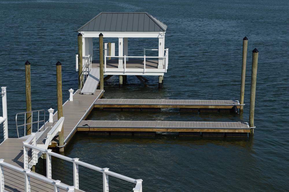 marine contractor pier and gazebo
