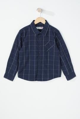 boys fashion checkered button up